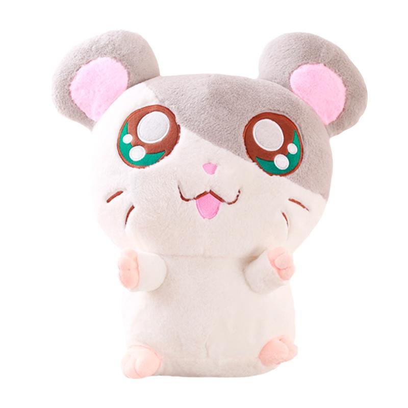 30cm Kawaii Büyük Gözler Peluş Hamtaro Hamster Oyuncak Doldurulmuş Hamster Bebek Oyuncakları Çocuk hediyeleri Doğum Günü Hediyeleri