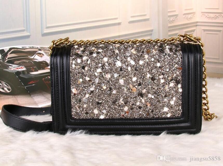 les femmes sacs à main designer de luxe en cuir véritable peau de vache sac à bandoulière sacs à main épaule messager sacoche porte-monnaie sac Chaine D61