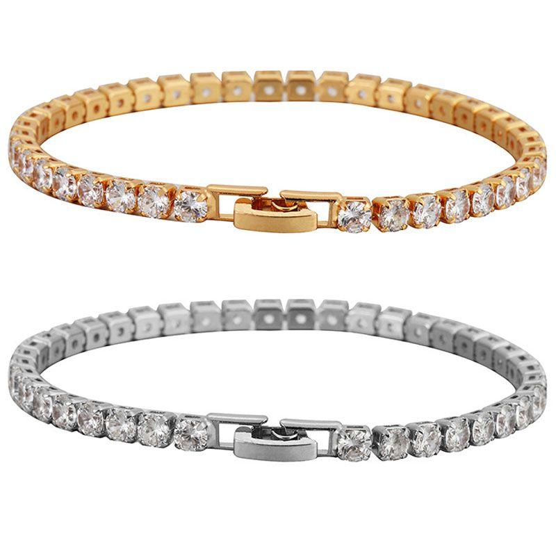 Gros Bracelet Bijoux Bracelets Marque Griffe Chaîne Zircon Femme Bracelet Coréen Bronze Micro Incrusté Zircon Plaqué Or Manchette Lien Chaîne