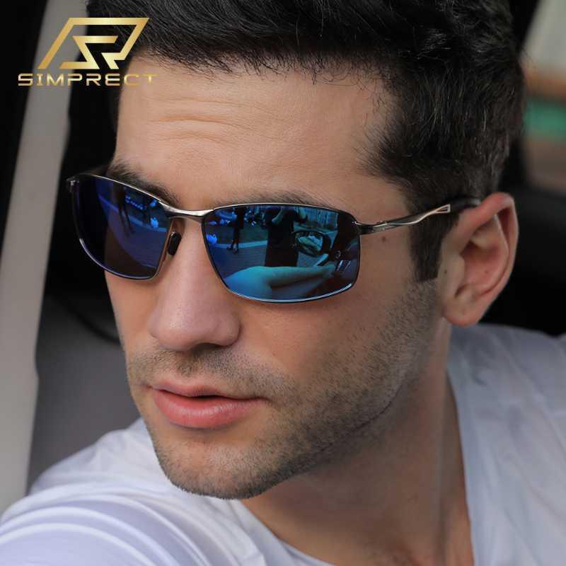 SIMPRECT polarisierte Sonnenbrille Männer 2020 Fahrer Photochromic Sonnenbrille Vintage Retro-Platz Anti-Glare-Sonnenbrillen für Männer