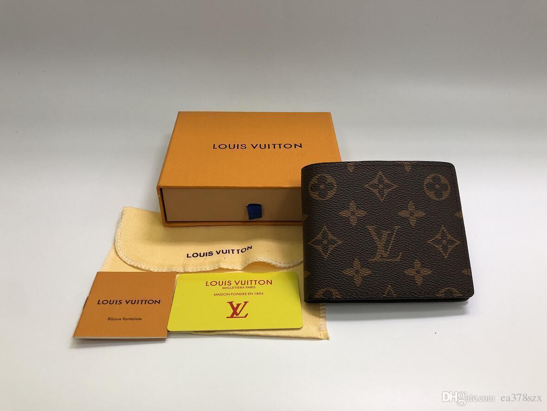 6 couleurs Paris à carreaux de style portefeuille mens design hommes célèbres luxe portefeuilles en cuir spécial multiple court petit portefeuille bifold avec la boîte