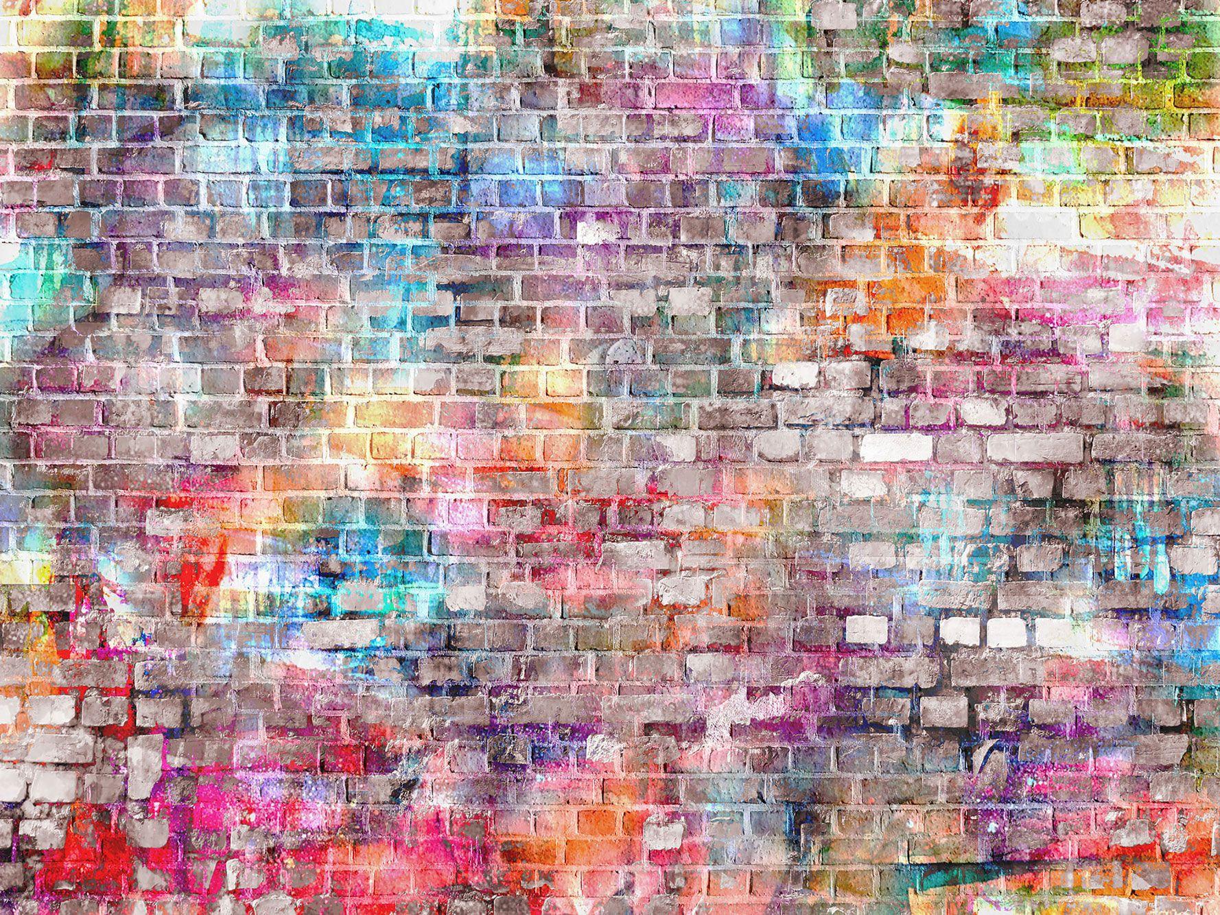 Цветные кирпичные стены виниловые фотографии фонов граффити новорожденный ребенок фото стенд фоны для детей День Рождения студия реквизит