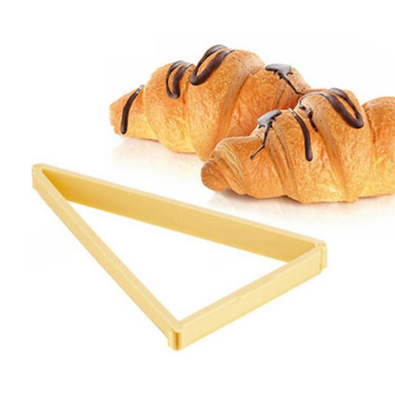 Molde de plástico Croissant Cortadores Pan Línea Postre Stamper rollo Maker hornear los pasteles utensilios para hornear Herramientas Gadgets de cocina Accesorios