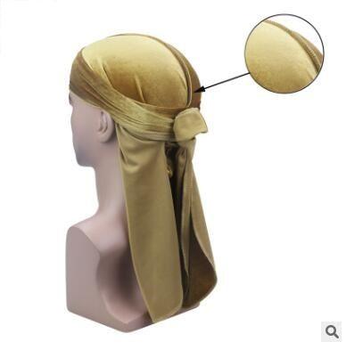Mens Velvet Durags Bandana Turban Hat Wigs Doo Men Durag Biker Headwear Headband Pirate Hat Du-RAG Hair Accessories 36