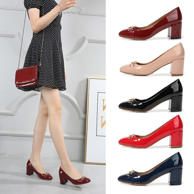 2020 New arrival Luxury Designer Women's Dress shoes,Patent leather Fashion Sexy Lady's Party shoes,High quality Wedding shoes