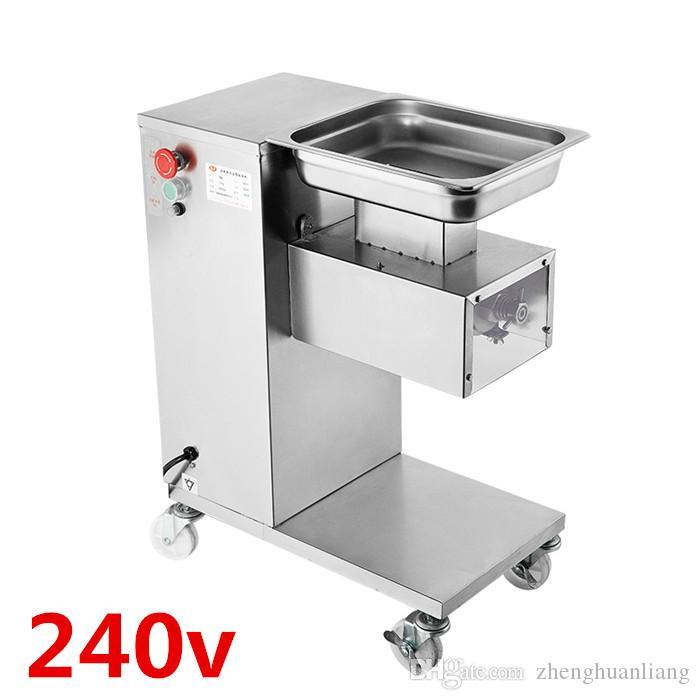 Großhandel - Kostenloser Versand 240V Vertikaler Typ QE Fleischschneidemaschine, 500 kg / h Fleischverarbeitungsmaschine
