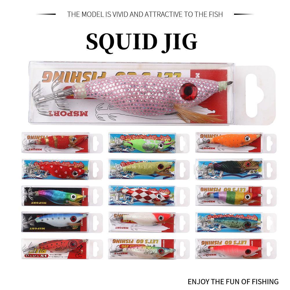 New Luminous Squid Jig lures hook 10cm 10g octopus Crankbaits Prawn fishing lure shrimp hard Baits