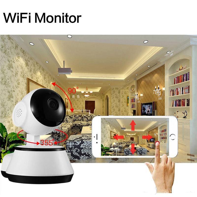 홈 보안 카메라 IP 무선 스마트 와이파이 카메라 720P 적외선 CCTV 캠 마이크로 SD 슬롯 지원 마이크 P2P