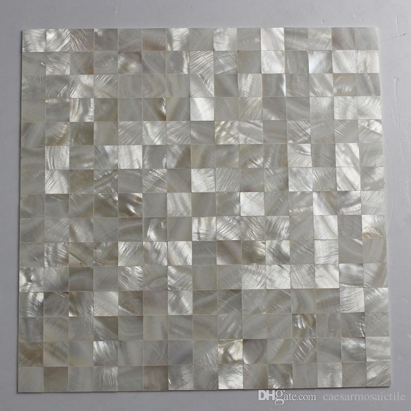 20x20mm white color Mother Of Pearl shell mosaic , seamless tile mesh backer Bathroom wall tile #MS123