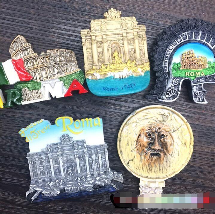 Heiße verkaufende neueste Europa Rom Bocca Della Verita Helm Wishing Behälter magnetischen Aufkleber Kühlschrank Weiße Tafel Aufkleber-Hauptdekor