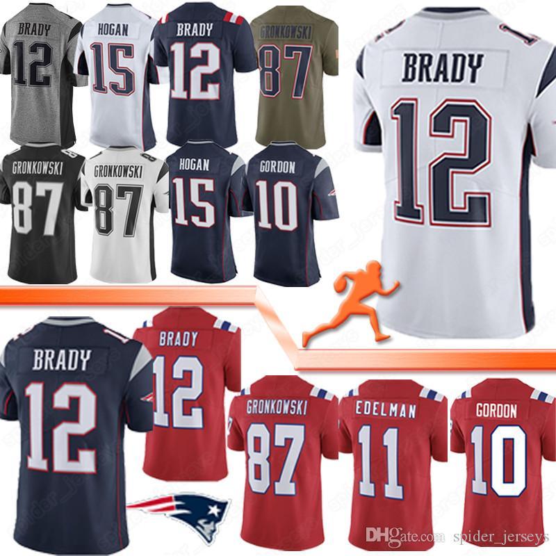 11 Julian Edelman New Patriot 12 Tom Brady Football Jerseys 87 Rob Gronkowski 10 Josh Gordon High-quality Jersey 2020 new Free shipping