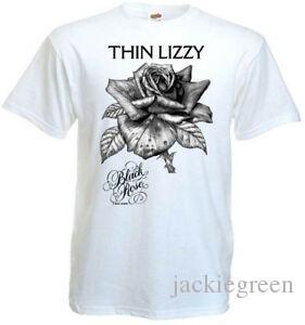 Thin Lizzy Black Rose v4 T-Shirt weiß Hard-Rock-Größen alle S 5XL