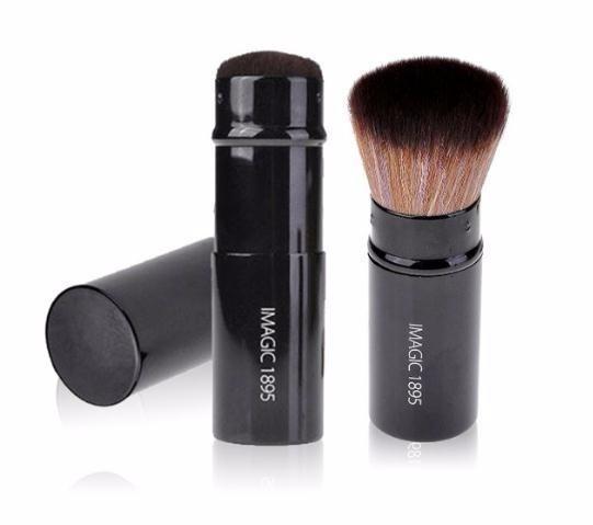 Spazzola cosmetica della polvere del fronte della polvere dello strumento di trucco ritrattabile della spazzola della polvere della spazzola 2019 del mestiere 1pcs