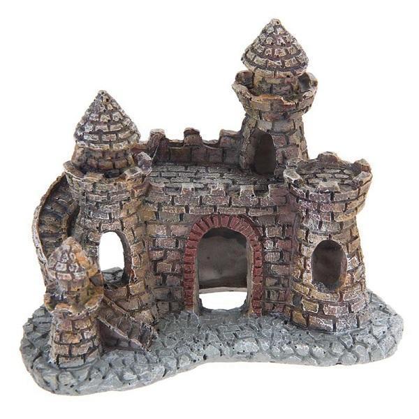 수족관 장식 마법사의 성 물고기 탱크 쉘터 하우스 손으로 그린 성 사실
