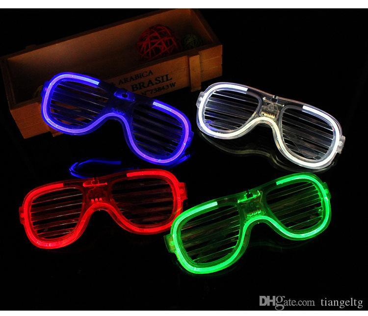 Floresan Parti Gözlük Çerçeveleri LED Flaş Parlak Göz Maskesi Kepenkler Flash Gözlük Noel Düğün Karnavalı Dance Bar Partisi Doğum 09