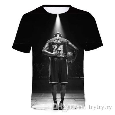 Bryant Black Mamba T-shirt pour homme 3D Hauts Mode Hauts à manches courtes hommes T-shirt en vrac T Casual Hip-Hop T-shirt drôle Ypf690
