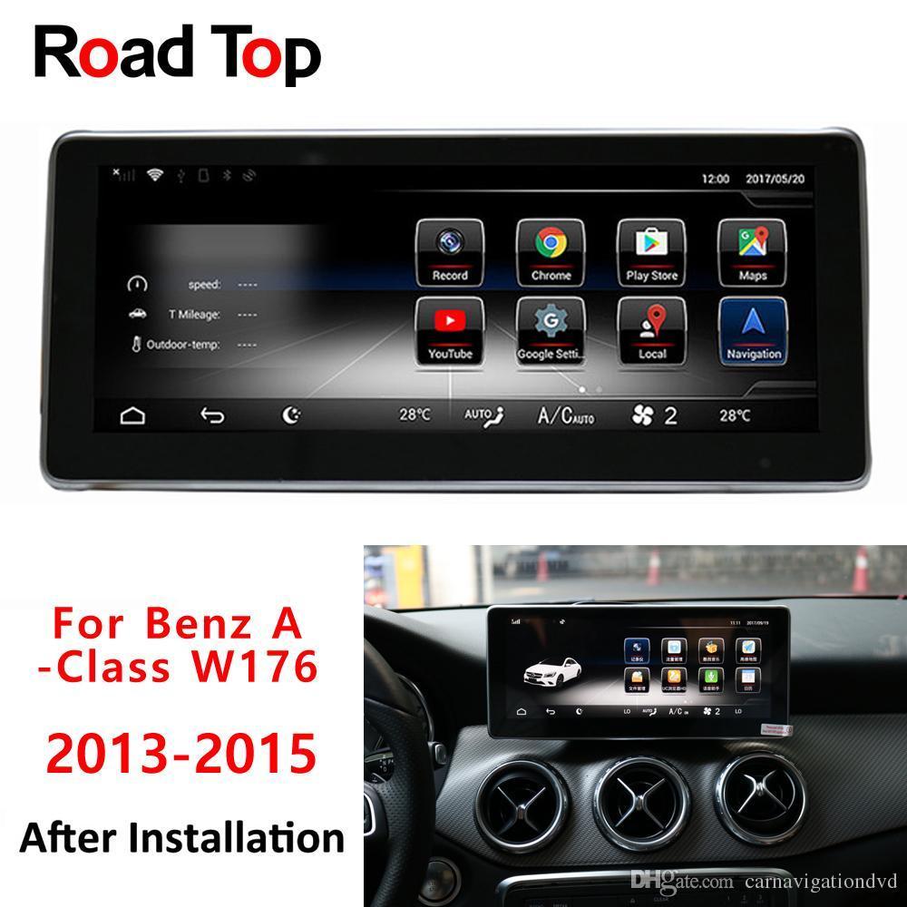 "10.25"" Android 8.1 Octa 8-Core-CPU 2 + 32G Autoradio WiFi GPS Navigation Bluetooth Head Unit Bildschirm für Mercedes Benz A-Klasse W176 2013-2015"