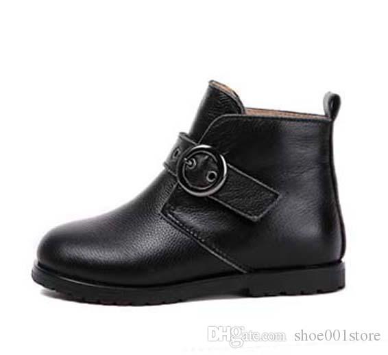 Kutu BN45 ile TOP-Kalite 2019 Kadın Marka Boots Gerçek deri En iyi kalite Sivri Düz Ayakkabı Bilek Boot Martin Boots Moda çizmeler