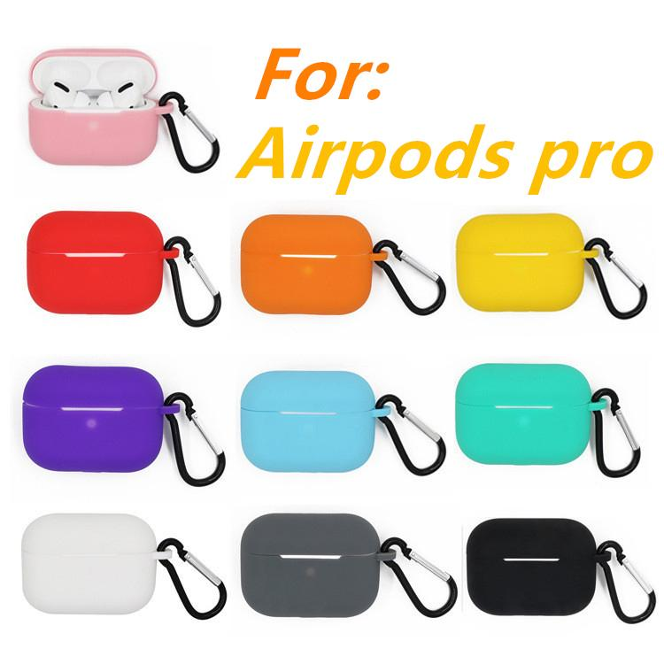 Ultra thin soft silicon earphone bag With key chain For airpods pro TPU case shockproof cover for airpods 3 charging box protective cases