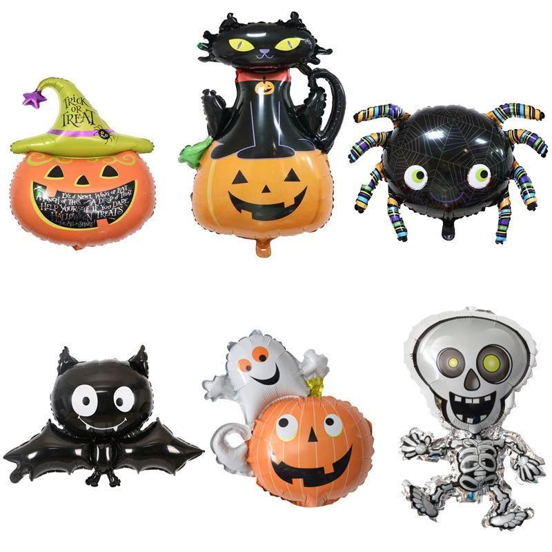 Halloween Balloon alluminio Palloncino zucca testa Spider Bat Forma Halloween Palloncino a elio partito di decorazione di Halloween del giocattolo del capretto VT0478