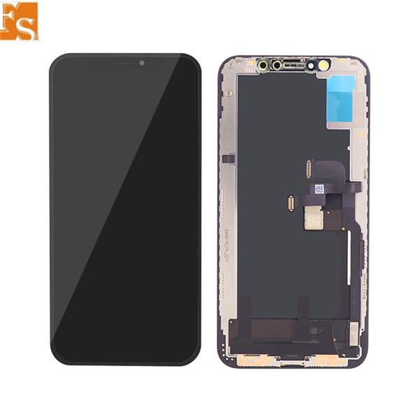 OLED LCD ل iPhone OLED آيفون X XR XS XS MAX 11 11 برو lcd استبدال 3d شاشة اللمس محول الأرقام كامل التجمع lcd عرض dhl مجانا