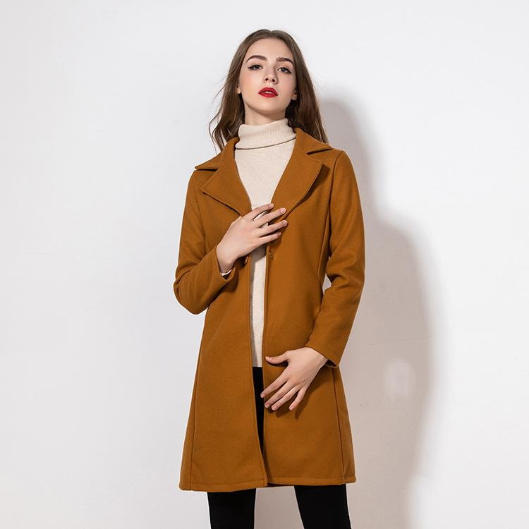 Designer Womens Overcoat 2020 New Brand Sweater Womens Fashion Woolen Overcoat with Pockets for Women Outwear Size S-3XL Wholesales