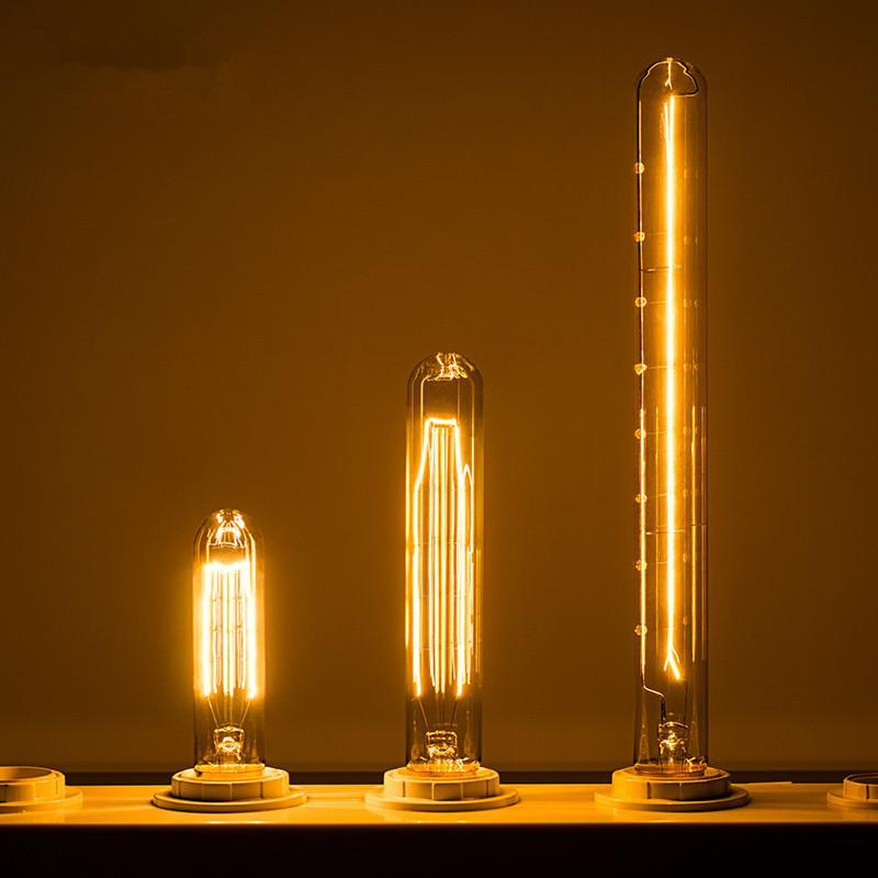 Retro Edison lamba LED Ampul E27 25 W 40 W 60 W 230 V LED akkor lamba kolye lamba Endüstriyel dekor Vintage Filament ampul