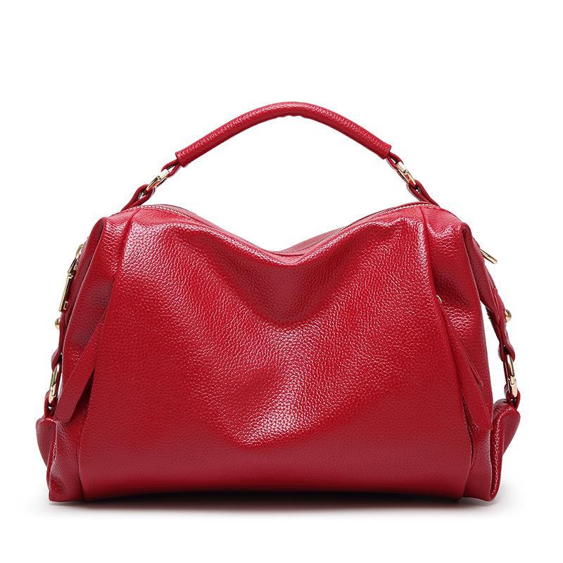2019 лето новый Корейский моды простой сумка Boston мягкая поверхность тисненая кожа г-жа плечо сумка большая сумка