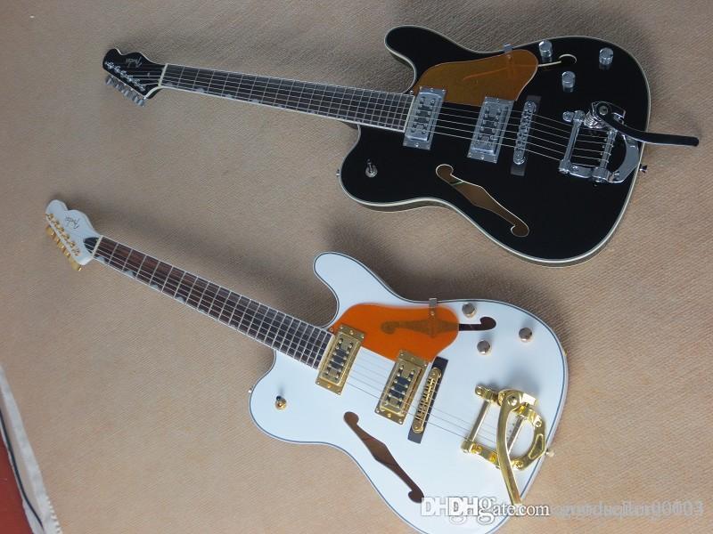 nouvelle Thaïlande appelle guitare F-trou vide coeur accessoires d'or rocker rouge guitare électrique