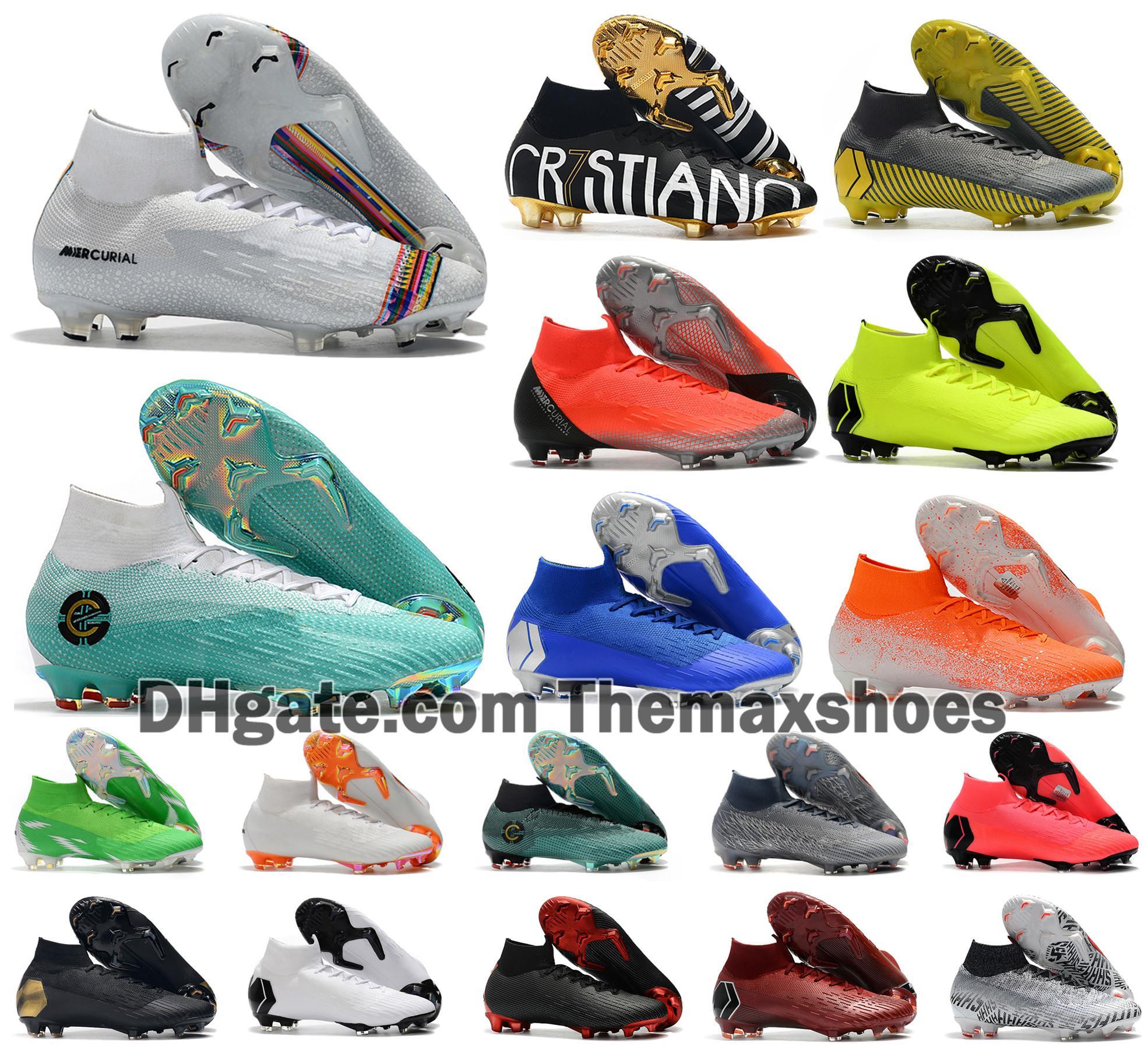 حار زئبقي ال superfly VI 360 النخبة FG السابع 6 7 CR7 رونالدو نيمار الرجال النساء بنين الأبخرة أحذية السامي لكرة القدم أحذية كرة القدم المرابط الولايات المتحدة 3-11