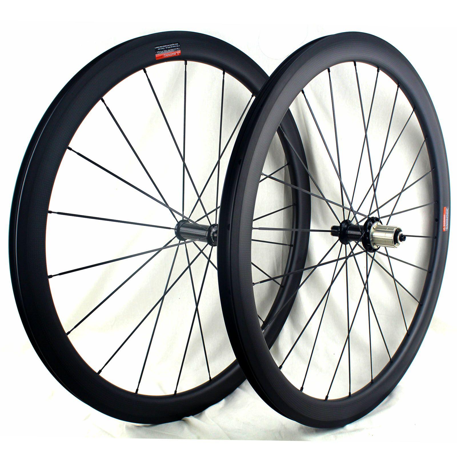 카본로드 휠 (33) 43 55 65mm 클린 700C의 튜브가 준비 탄소 자전거 바퀴 3K 매트 Powerway R36 허브