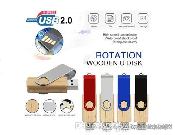 UK Wholesale HOT Wooden Pen Drive Personality Creative Gifts Wood USB Flash Drive U Disk USB2.0 Flash Drive 64GB Pendrive