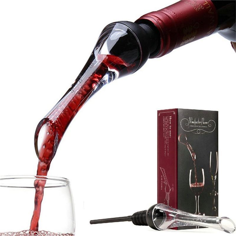 Kutu Şarap Havalandırıcı Diğer Bar Ürünleri ile Şarap Havalandırıcı Pourer Siyah Premium Havalandırıcılar Pourer ve sürahi Bacalı içecek Şarap likör Pourer