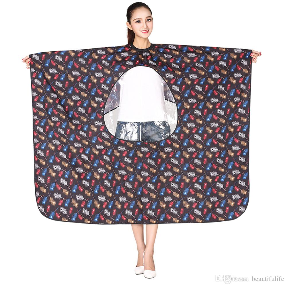 1pcs Professional Hairdressing Apron Hair Cutting Flower Printing Cape Barber Styling Salon Camps Hairdresser Wrap Cloth(K069)