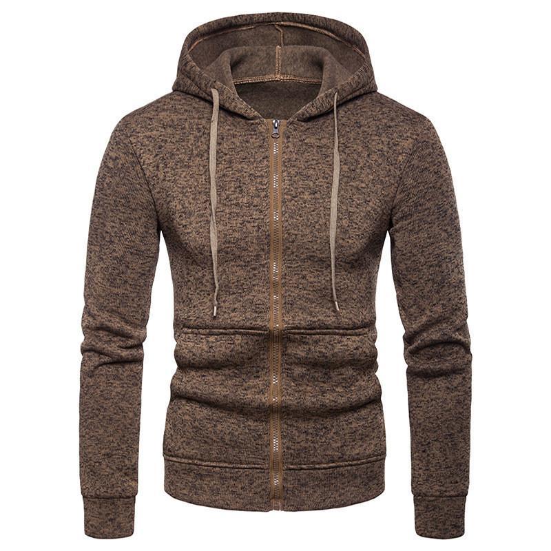 Solid Color Mens Designer Hoodies beiläufige Reißverschluss Slim Taschen Männer Pullover Mode Langarm Männer Kleidung