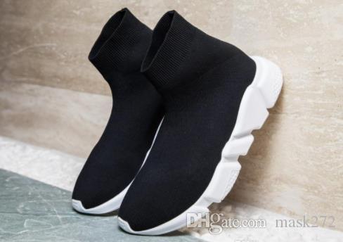 scarpe casual 2018 lusso Velocità calzino di alta qualità Velocità Trainer per gli uomini e le donne scarpe scarpe di velocità di stiro-maglia Mid scarpe da ginnastica H3 dimensioni