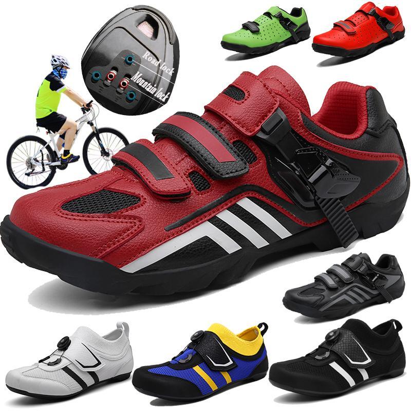 CUNGEL Fahrradschuhe hitzeformbar 3K-Carbon-Faser-Straßen-Fahrrad-Turnschuhe Schnalle oder 1/2 Shoelaces Selbstsichernde Thermoplastisches Fahrrad
