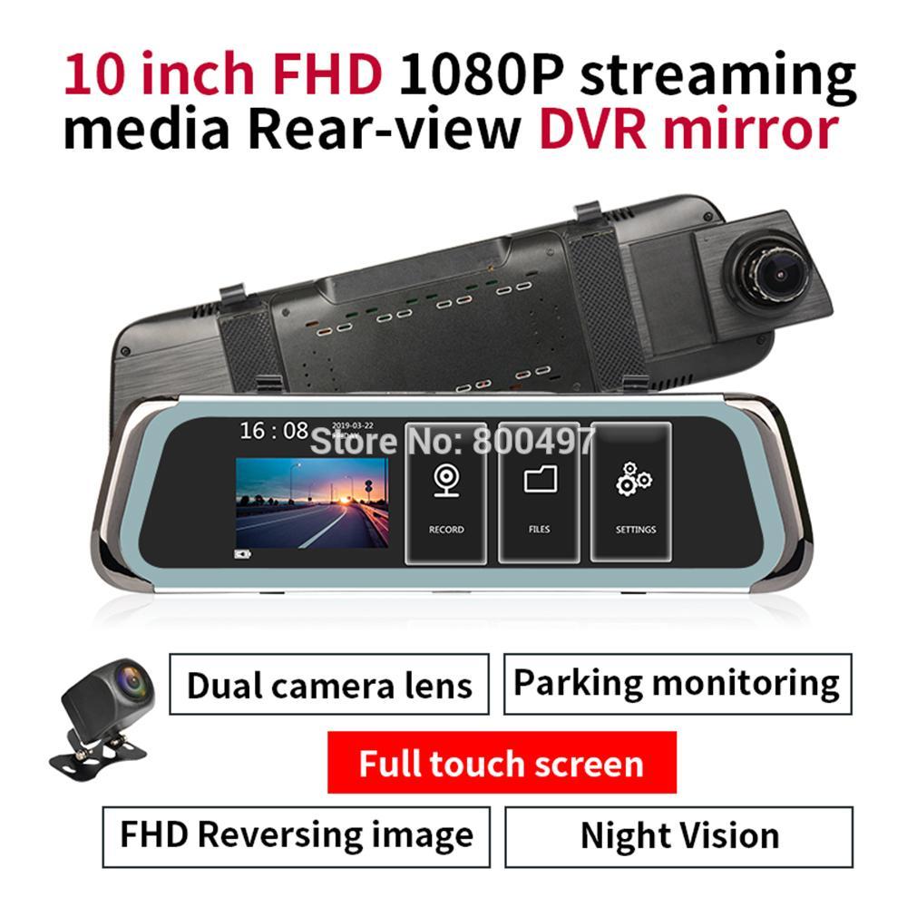 Cam/éra De Vision Nocturne 1080P DVR Dashboard Camera HD avec 10 Pouces De Plein /Écran en Streaming avec Double Lentille R/étroviseur 170 /° Grand Angle Cam/éra Tableau De Bord GPS Capteur G WiFi