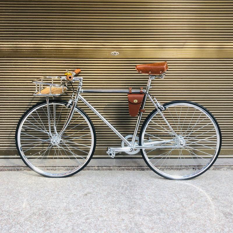 bicicleta de la vendimia astilla 700C fija del engranaje Bici de la pista biycle 52cm velocidad de la cesta individual inlcude marco fixie