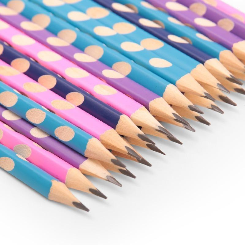 1Pc HB Kawaii Wooden Lead Pencils Creative Hole Pencil For Kids Gifts