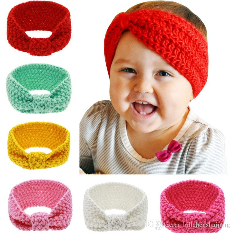 Girls Baby Toddler Headwrap Headband Knitted Crochet Hairband Hair SALE HOT