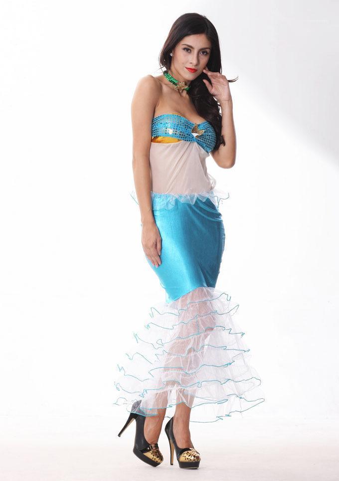 Casual Vestuário Mermaid Peixe Hallowenn Designer Cosplay Moda Sexy Styel Festival Tema Traje Feminino Roupa Moda