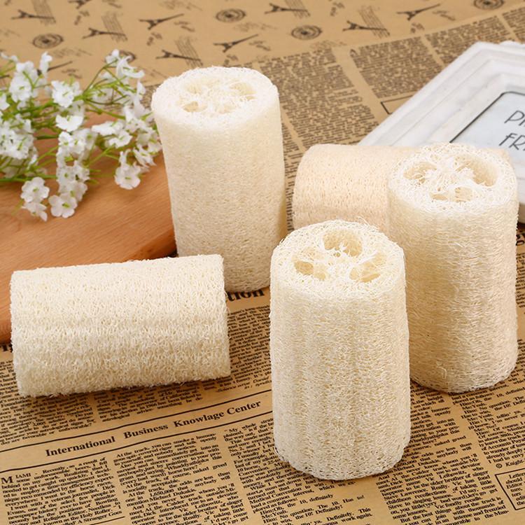 Loofah natural Luffa Esponja con loofah para cuerpo quitar la piel muerta y la herramienta de la cocina Cepillos de baño de masaje Towelt2I5795