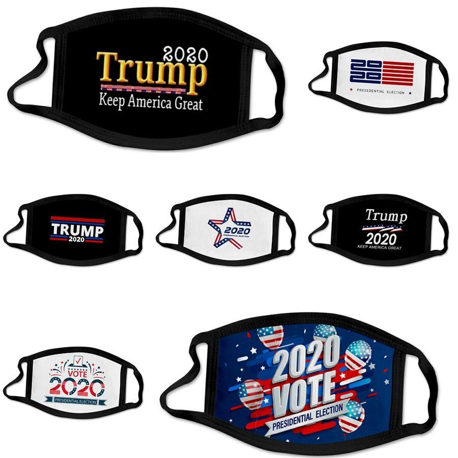# 325 Yeniden kullanılabilir Toz Ağız Partikül Koruyucu Pamuk Yüz Maske Yıkanabilir Tasarımcı Trump Face Katlanan 20 1pcs Moda er 4 Katmanlar