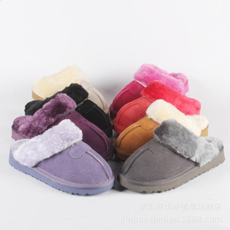 mens AIKE Asia Marchi: Australia Invernali e coperta pantofole 100% vera pelle Warm Home pattini pantofole unisex pantofole CJ191212 delle donne
