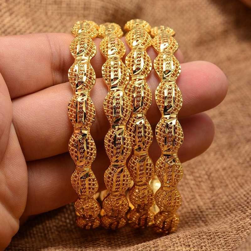 الأزياء والمجوهرات 4PCS الإثيوبي الجديد قابل للتعديل سوار للمرأة فتاة مان دبي سوار مجوهرات هدايا العربي الأفريقي العروس