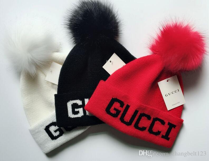 Otoño Invierno Sombreros Para Mujeres Hombres Diseñador de la marca Gorros de moda Skullies Chapeu Gorras Algodón Gorros Toucas De Inverno Macka5