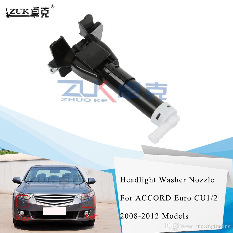 ZUK Front Bumper Headlight Headlamp Washer Nozzle For HONDA ACCORD Euro 2009-2012 CU1 CU2 OEM:76885-TL0-S01 76880-TL0-S01