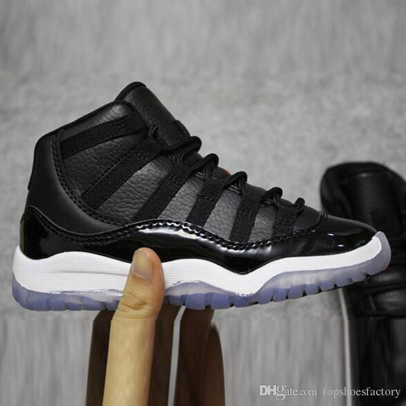 2019 Bred XI 11S Kids Basketball Shoes Gym Red Infan &Children toddler Gamma Blue Concord 11 trainers boy girl tn sneakers Space Jam