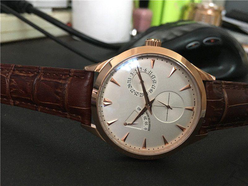 Новые поступления Man часы механические часы автоматические часы мужские наручные часы бизнес-стиль кожаный ремешок J04